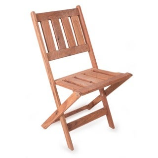 Handmade Tzalam Wood 'Paradise Hacienda' Folding Chair (Mexico)