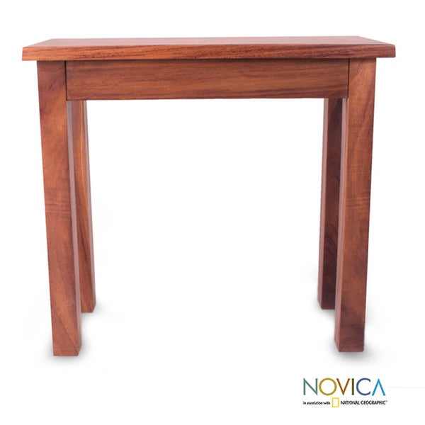 Handmade Parota Wood U0027San Pedrito Missionu0027 Console Table (Mexico)   Free  Shipping Today   Overstock.com   15020089
