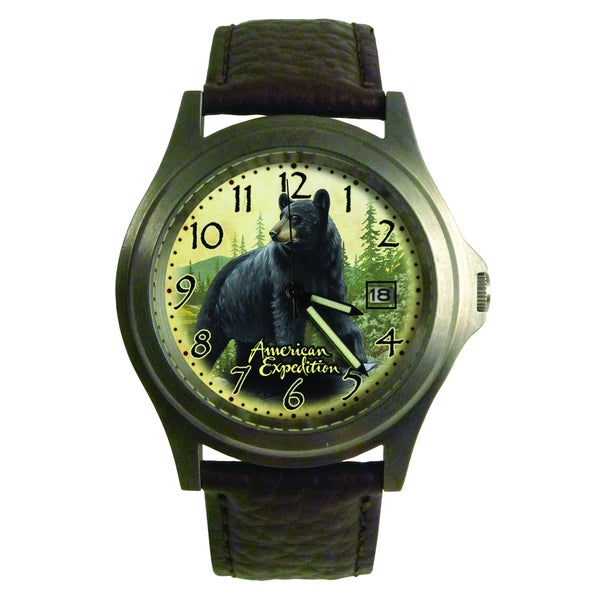 American Expedition Black Bear Wrist Watch