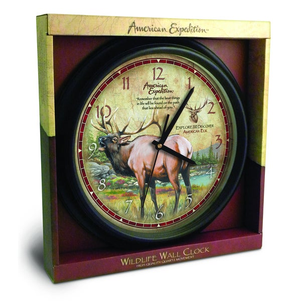 American Expedition 16-inch Elk Wall Clock