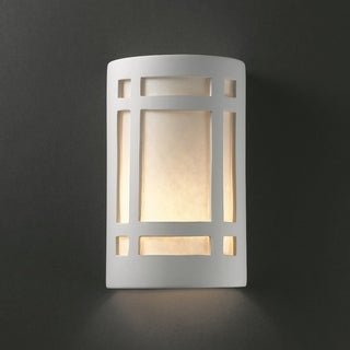 Window Ceramic Bisque 1-light Wall Sconce
