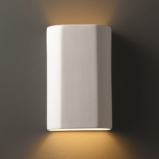 Clay Alder Home Anoka Cylindrical Ceramic Bisque 1-light ADA Wall Sconce