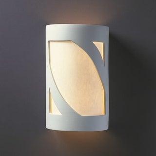 Lantern Ceramic Bisque 2-light ADA Wall Sconce