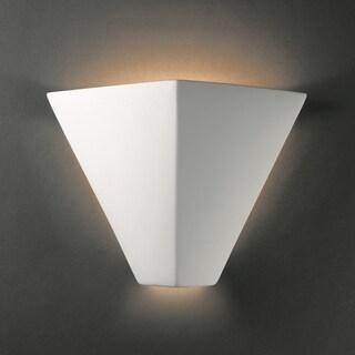 Trapezoidal Ceramic Bisque 1-light ADA Wall Sconce