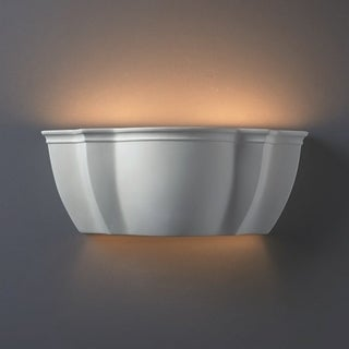 Italian Ceramic Bisque 2-light Wall Sconce