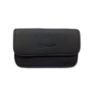 Deluxe Casio Exilim Ex-H5 Black Leather Camera Case