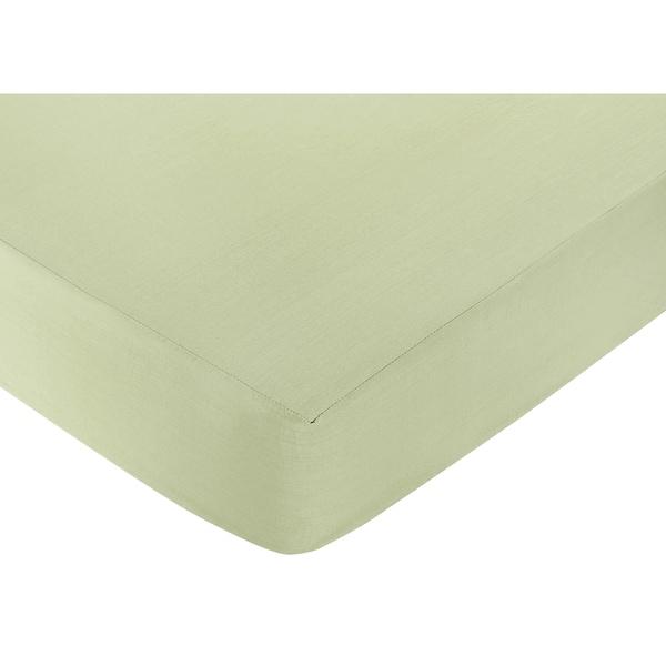 Sweet JoJo Designs Green Fitted Crib Sheet