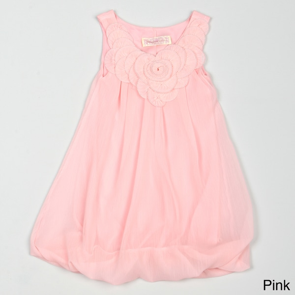 Paulinie Collection Girl's Chiffon Bubble Dress