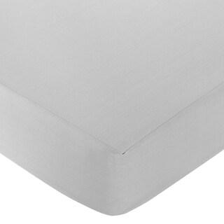 Sweet JoJo Designs Grey Fitted Crib Sheet