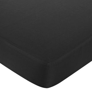Sweet JoJo Designs Black Fitted Crib Sheet
