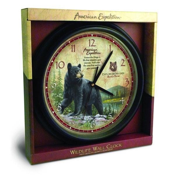American Expedition Black Bear Wall Clock