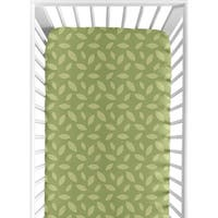 Sweet JoJo Designs Jungle Time Leaf Print Fitted Crib Sheet