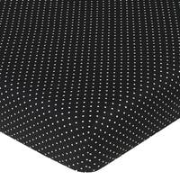Sweet JoJo Designs Black and White Dot Fitted Crib Sheet