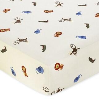 Sweet Jojo Designs Jungle Time Animal Print Fitted Crib