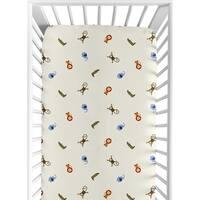 Sweet JoJo Designs Jungle Time Animal Print Fitted Crib Sheet