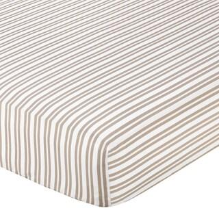 Sweet JoJo Designs Little Lamb Stripe Fitted Crib Sheet