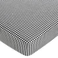 Sweet JoJo Designs Gingham Print Fitted Crib Sheet