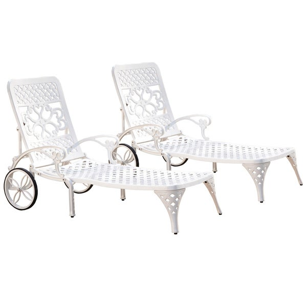 Biscayne Chaise Lounge Chairs (Set of 2) by Home Styles