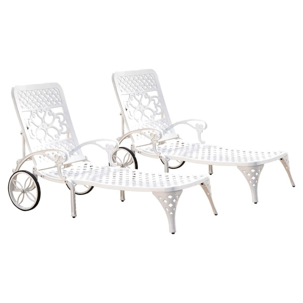 biscayne chaise lounge chairs set of 2 by home styles free shipping today