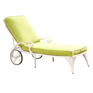 Biscayne Chaise Lounge Chair with Cushion by Home Styles