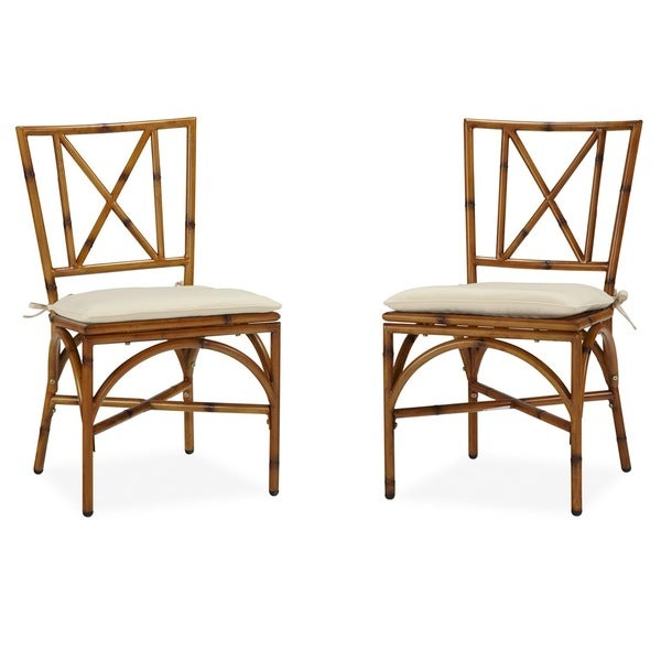Bimini Jim Dining Chair Pair with Cushion by Home Styles