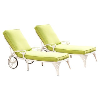 Biscayne Chaise Lounge Chairs with Cushion by Home Styles