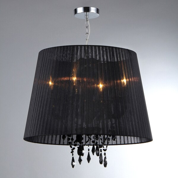 Charmian Crystal Elegant Shade Hanging Chandelier