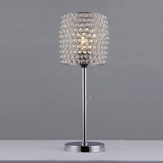 Cleopatra 1-light Crystal Table Lamp