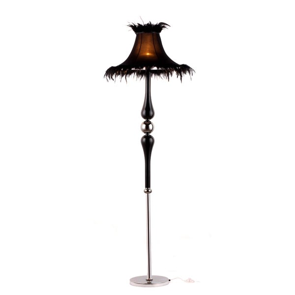 Cyrene Black Fabric Floor Lamp