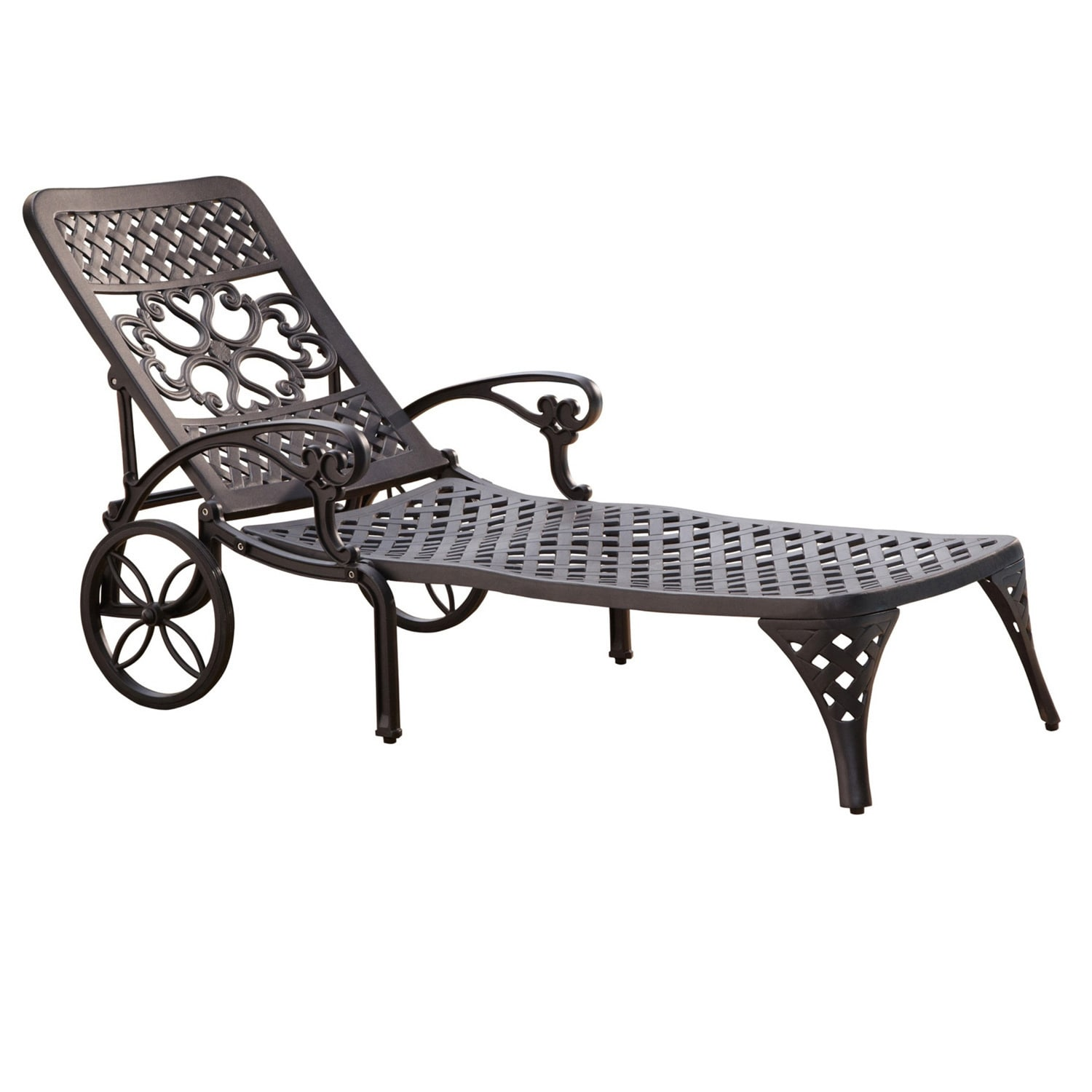 Biscayne Chaise Lounge Chair By Home Styles (Black), Pati.