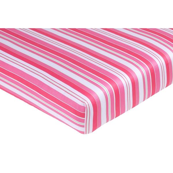 Sweet JoJo Designs Olivia Stripe Print Fitted Crib Sheet