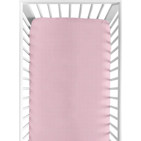 c0f5f90fe Shop Sweet JoJo Designs Pink Gingham Print Fitted Crib Sheet - Free  Shipping On Orders Over $45 - Overstock - 7595301