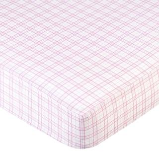 Sweet JoJo Designs Pink Plaid Fitted Crib Sheet