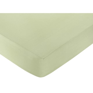 Sweet JoJo Designs Riley's Roses Green Fitted Crib Sheet