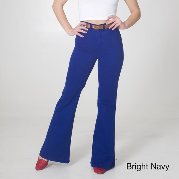 American Apparel Women's Stretch Twill Wide Leg Pants