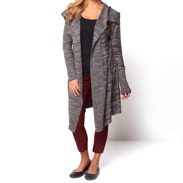 Covered by Suss Women's 'Brittany' Charcoal Open-front Cardigan