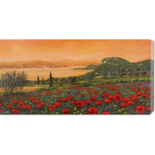 Global Gallery Tebo Marzari 'Dalle colline' Stretched Canvas Art