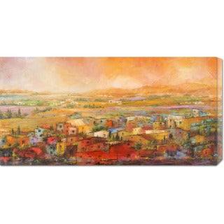 Big Canvas Co. Tebo Marzari 'Villaggio delle colline' Stretched Canvas Art