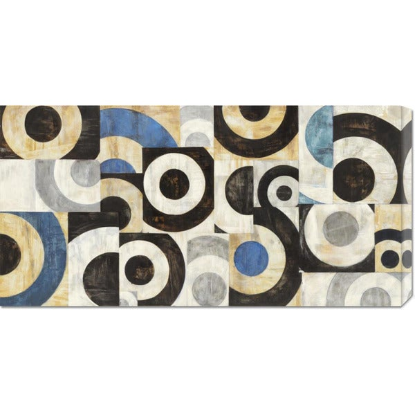 Global Gallery Sandro Nava 'Universo circolare' Stretched Canvas Art