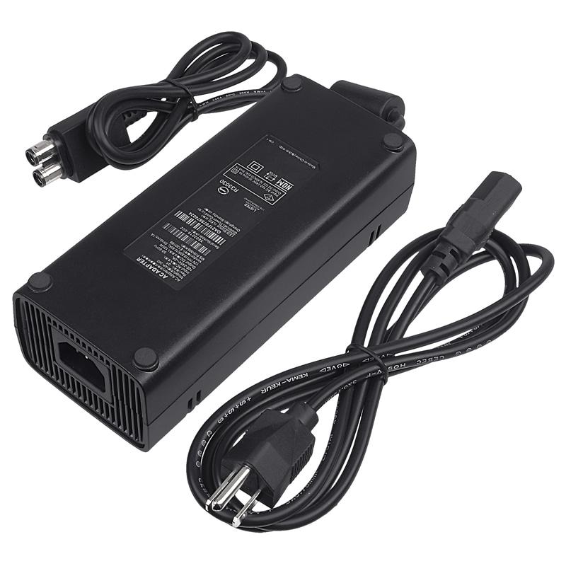 Insten AC Power Adapter for Microsoft xBox 360 Slim, Black #946757