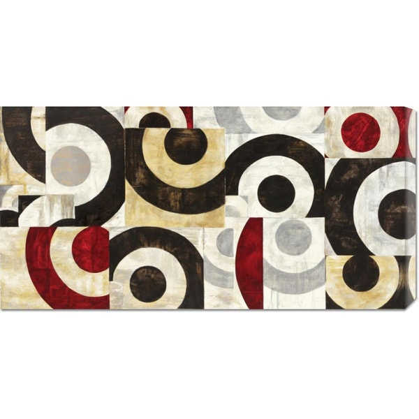Global Gallery Sandro Nava 'Connessione geometrica' Stretched Canvas Art