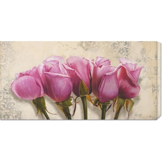 Global Gallery Elena Dolci 'Royal Roses' Stretched Canvas Art