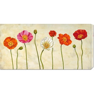 Global Gallery Cynthia Ann 'Coquelicots' Stretched Canvas Art