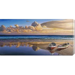 Big Canvas Co. Adriano Galasso 'Barche sulla battigia' Stretched Canvas Art