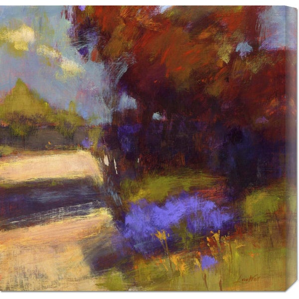 Global Gallery Lou Wall 'Breeze' Stretched Canvas Art