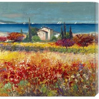 Global Gallery Luigi Florio 'Sogno mediterraneo (detail)' Stretched Canvas Art