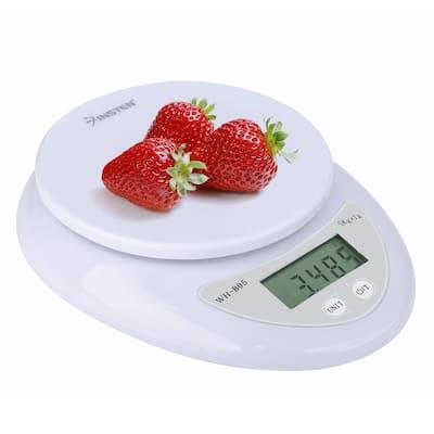 INSTEN White 1-5000g/ 0.1 - 176 oz. Digital Kitchen Scale Food Scale