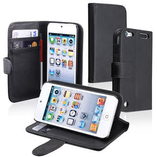 Insten Black Leather Glossy Wallet Flap Pouch Case Cover with Stand For Apple iPod Touch 5th/ 6th Gen|https://ak1.ostkcdn.com/images/products/7595626/7595626/BasAcc-Wallet-Case-with-Card-Holder-for-Apple-iPod-Touch-Generation-5-P15020537.jpeg?impolicy=medium