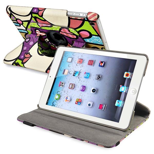 BasAcc Graffiti 360-degree Swivel Leather Case for Apple iPad Mini