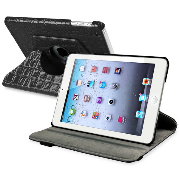 BasAcc Black 360-degree Swivel Leather Case for Apple® iPad Mini